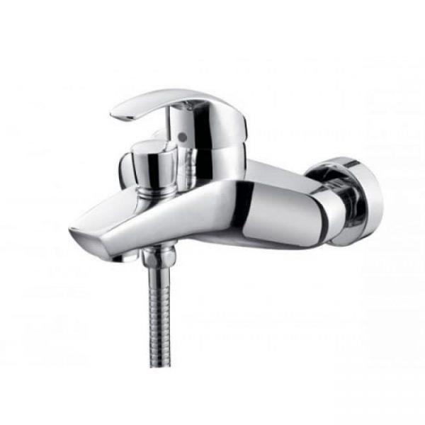 Смеситель однорычажный для ванны с душем KAISER Nova короткий неповоротный Ø40