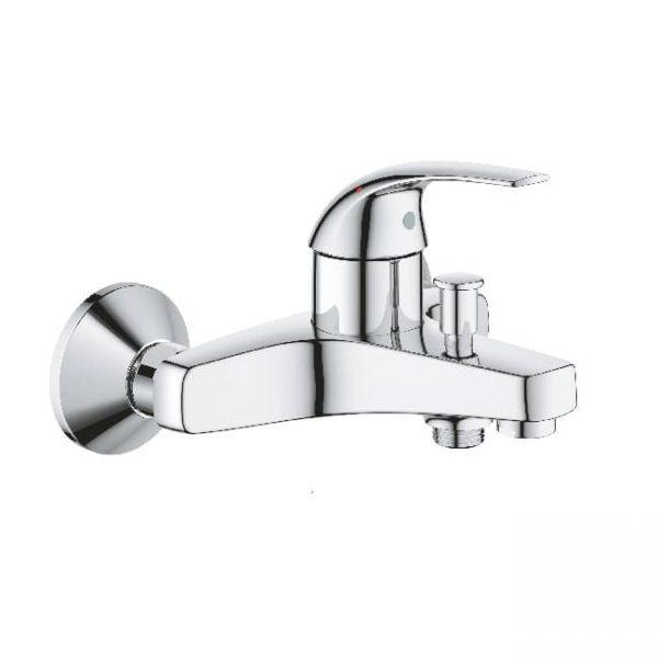 Смеситель для ванной GROHE BauCurve хром