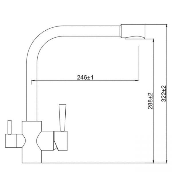 26044-3 KAISER Merkur кухня бок под фильтр ф40 Bronze схема