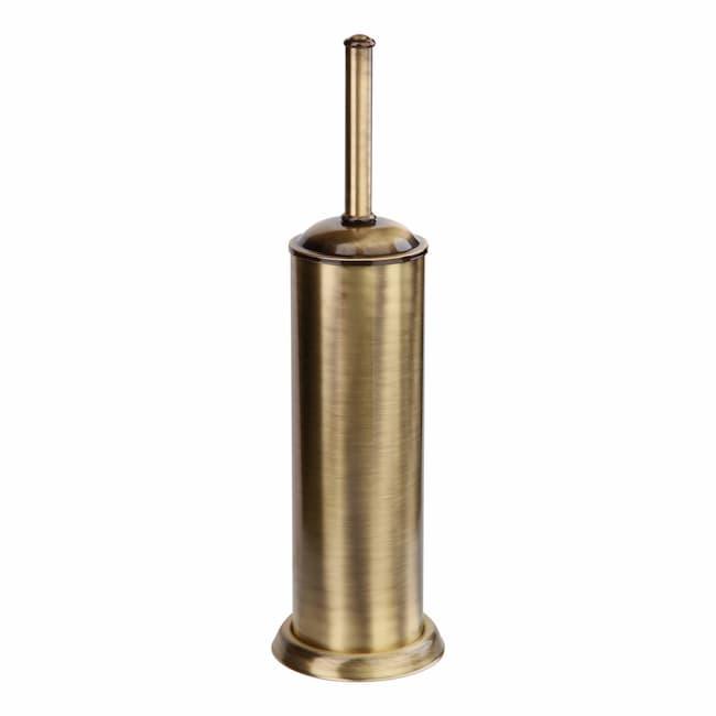 Ерш напольный с черной щеткой Classic Retro Bronze R-18