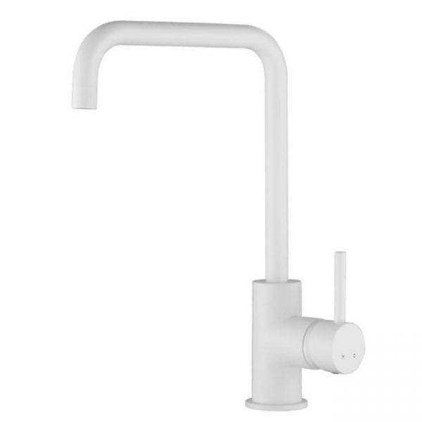 Смеситель для мойки кухни Г-излив 26844-3 KAISER Merkur боковой Ø35 White