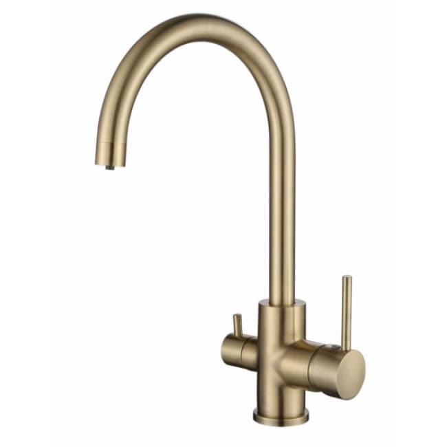 Смеситель для мойки кухни под фильтр R-излив 26744-3 KAISER Merkur боковой Ø35 Bronze