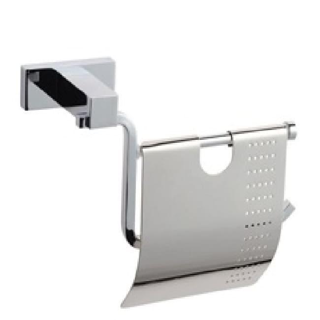 Бумагодержатель для туалетной бумаги с крышкой Classic QUADRATE М002 правый