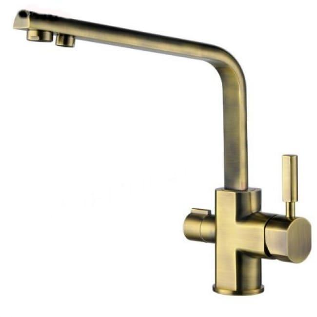Смеситель для кухонной мойки под фильтр однорычажный боковой Kaiser Decor 40144-3 Bronze Ø40
