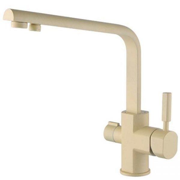Смеситель для кухонной мойки под фильтр однорычажный боковой Kaiser Decor 40144-5 Sand Yellow Ø40