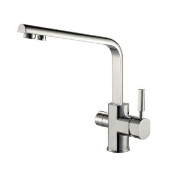 Смеситель для кухонной мойки под фильтр однорычажный боковой Kaiser Decor 40144-5 Silver Ø40