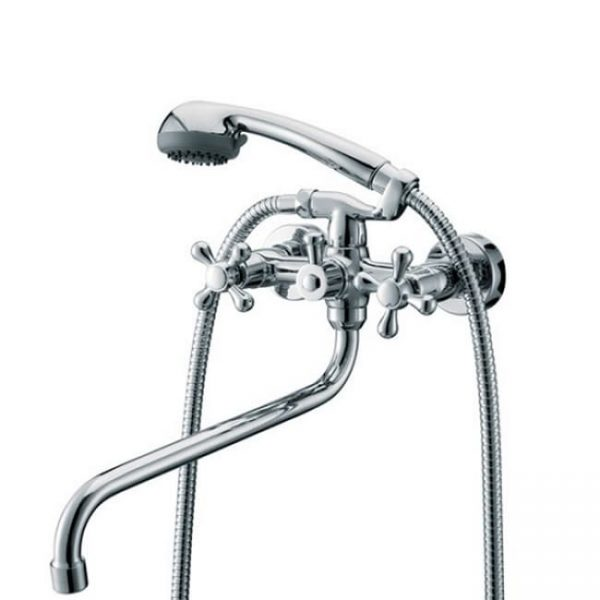 Смеситель для ванны с душем KAISER Carlson Style с двумя рукоятками 44255