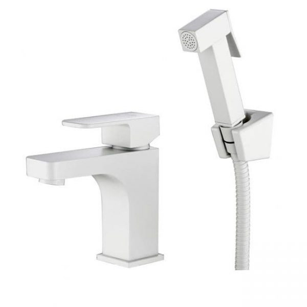Смеситель с гигиеническим душем Kaiser Sonat 34088-4 белый