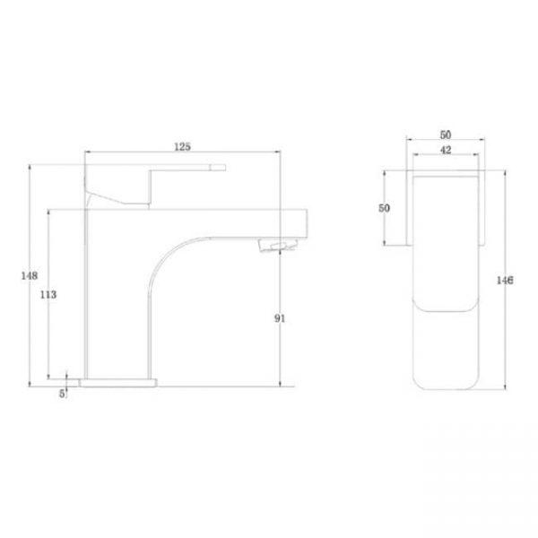 Смеситель с гигиеническим душем Kaiser Sonat 34088 схема