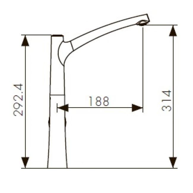 Смеситель KAISER Stick 49144 кухня боковой хром схема