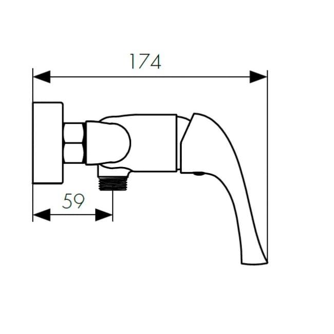 Смеситель для душа однорычажный Kaiser Comba 48077 схема
