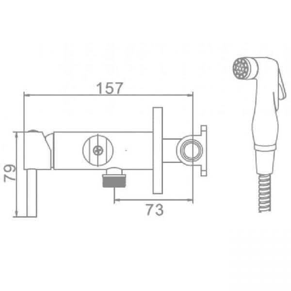 Смеситель для гигиенического душа L 5398-2 схема