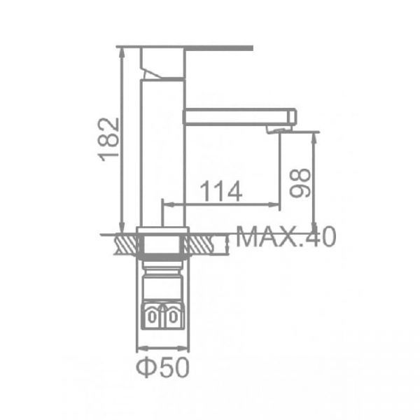 Смеситель для раковины LEDEME-L71033 схема