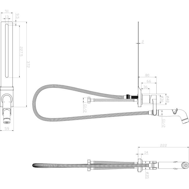 Смеситель с гигиеническим душем, устанавливаемый на унитаз Lemark SOLO LM7170CW схема